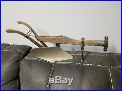 John Deere Horse Drawn Replica Steel Plow Home Folk Made Art 16 by 7 Inches