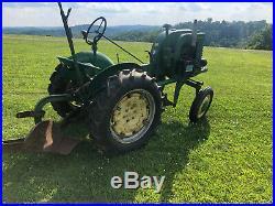 John Deere LA Tractor with Plow Cultivators Blade New Tires L A B M JD