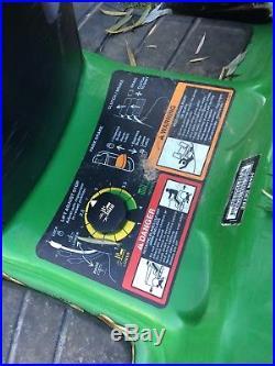John Deere LT133 Riding Mower WithSnow Dirt Plow & De thatcher EUC