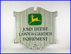 John Deere Lawn & Garden Equipment 2 sided colonial tractor, plow, farm sign
