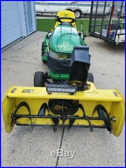 John Deere Lawn Tractor X304, 17HP, 375hrs, 44 Snowblower, 42 Mower, 46 Plow