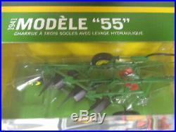 John Deere Model 55 Three Bottom Plow by SpecCast 1/16th Scale