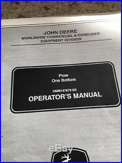 John Deere One Bottom Plow X Series 3 Point Omm147679 NOS