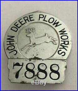 John Deere Plow Works Employee Badge 7888 (Vintage) A37