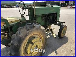 John Deere Tractor Model M With Plows