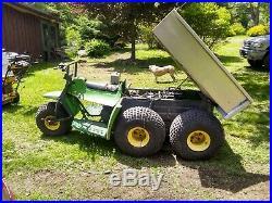 John Deere amt 600 626 4x4 5 wheeler aluminum dump hitch gator utv hunting plow