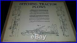 John Deere sign Proper Hitching Plows Diagram poster chart Tractor horse vtg