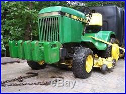 John deere 318 garden tractor riding mower 50 deck snow plow blade