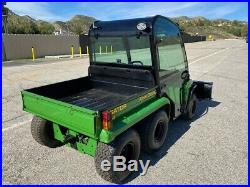 John-deere Gator 6x4 Fully Enclosed, Dump Bed And Snow Plow Low Hours, Ex Ca City