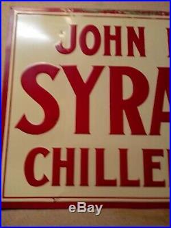 John deere syracuse chilled plows metal sign