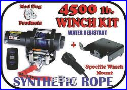 KFI 66 Poly Plow Complete Kit Mad Dog 4500# 2018-2019 John Deere Gator XUV 590E