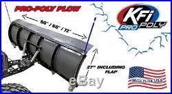 KFI 66 Poly Plow Complete Kit with Mad Dog 3500'11-19 John Deere Gator 625i 825i