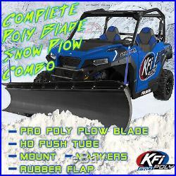 KFI 66 Snow Plow Poly Blade & Mount Kit John Deere Gator HPX XUV 850D 620i