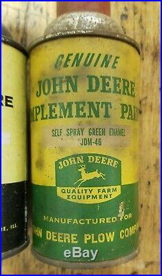 LOT (2) Original John Deere JD Plow Tractor Company Spray PAINT Cans