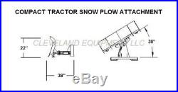 NEW 72 COMPACT TRACTOR / SKID STEER SNOW PLOW BLADE ATTACHMENT John Deere Case
