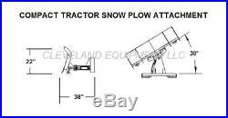 NEW 84 COMPACT TRACTOR / SKID STEER SNOW PLOW BLADE ATTACHMENT John Deere Case