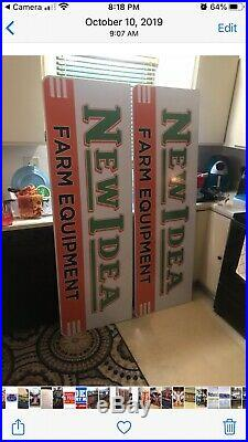 NEW IDEA SIGN FARM PLOW TRACTOR ADVERTISING vintage Style Towering 6 Awesome