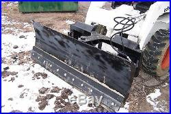 New heavy 66' four way dozer blade plow for skid steer fits John Deere Bobcat