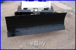 New heavy 6' four way dozer blade plow for skid steer fits John Deere Bobcat