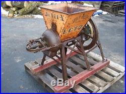 Old JOHN DEERE PLOW COMPANY LETZ Feed Grinder Burr Mill Hit Miss Gas Engine NICE