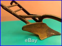 Old Vtg Cast Iron John Deere N. F. A. Bottom Walking Soil Plow Toy Moline Illinois