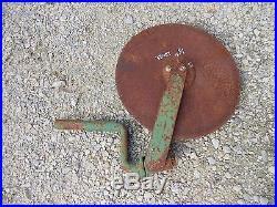 Oliver John Deere JD plow 16 rolling rolin cutter wheel disc disk bracket brace
