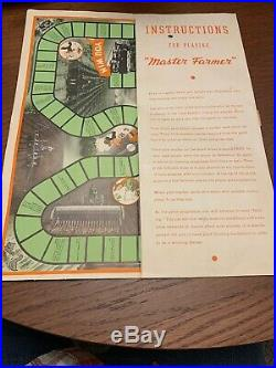Original 1938 John Deere Plow Company Master Farmer Game with 4 Game Pieces