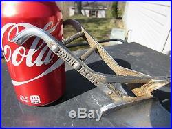 Original John Deere Salesmans Sample Horse Drawn Hand Plow Nickel Plated Rare