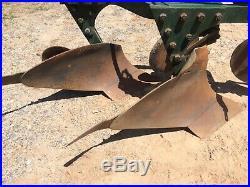 Plow, John Deere, Model 214, two bottom. LOCAL PICKUP ONLY