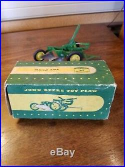 Pressed Steel 1953 Carter Ertl John Deere 2 Bottom Plow Lever & Cylinder withBox