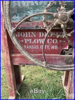 Rare Original John Deere Plow Co Corn Sheller Great Shape Decal Readable
