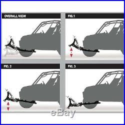 Snow Plow Kit 66x17'' Blade Steel Push Tube Frame Click N Go 2 John Deere 12-18