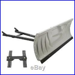 Steel Atv Snow Plow Adjustable 48 Blade Complete Universal Kit Package