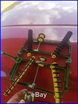 VINTAGE rare ERTL 1/16 SCALE JOHN DEERE 7520 4WD, plow, and disk
