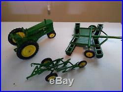 Vintage Ertl Eska 1/16 John Deere (Lot of 3 Toys) Custom Plow, Tractor, Disk