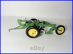 Vintage Ertl Eska John Deere Toy Plow 1/16 Steel 2 bottom 1950's Original Box