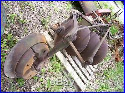 Vintage John Deere Tractor Implement 3 Point 4 Blade Disc Plow 21 Blades