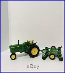 Vintage John Deere Tractor Set Disc Harrow Plow Wagon ERTL Farmers 1970's