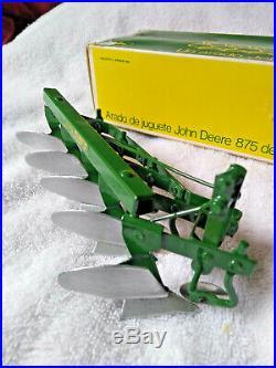 Vintage Sigomec 1/16 John Deere Five Bottom Plow from Argentina NIB RARE